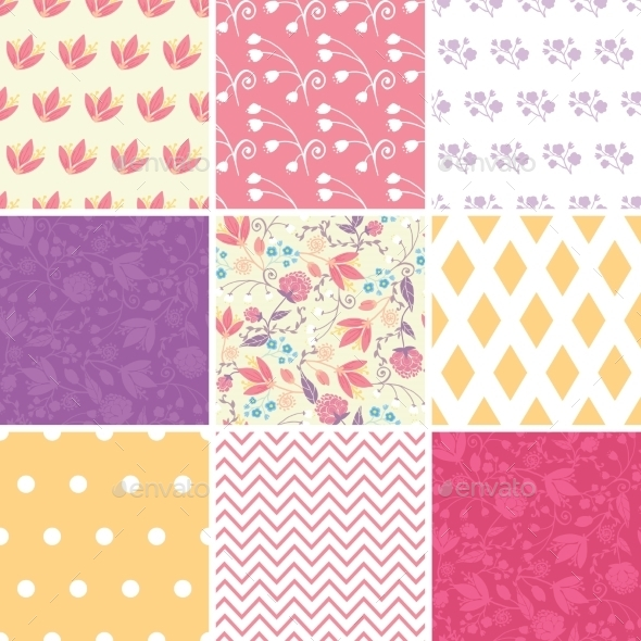 GraphicRiver Floral Patterns 10815546