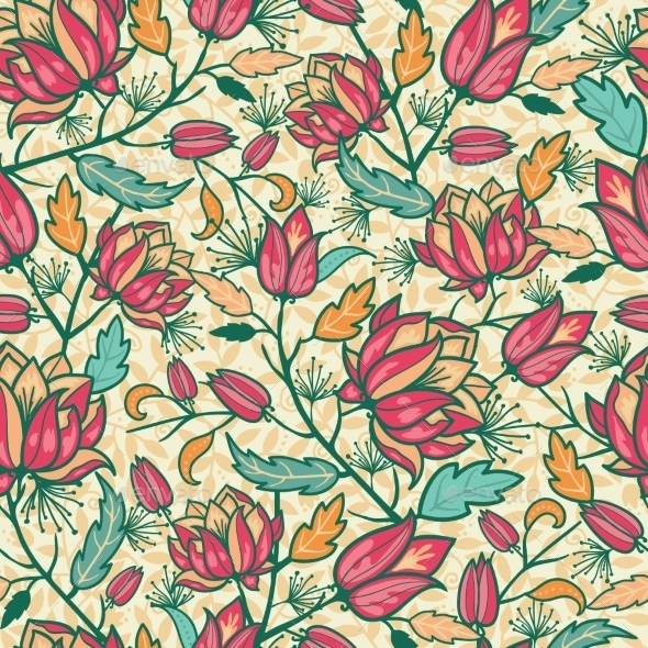 GraphicRiver Flower Pattern 10815566