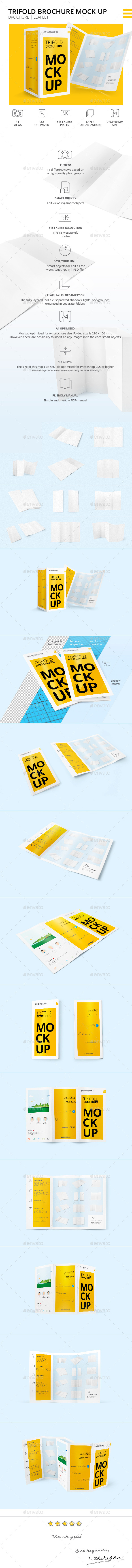 GraphicRiver Trifold Brochure Mock-Up 10815628