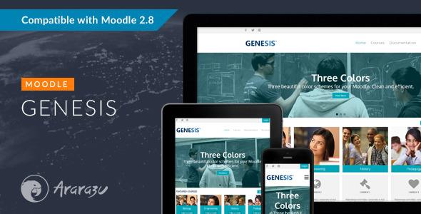 Genesis - Responsive Moodle Theme