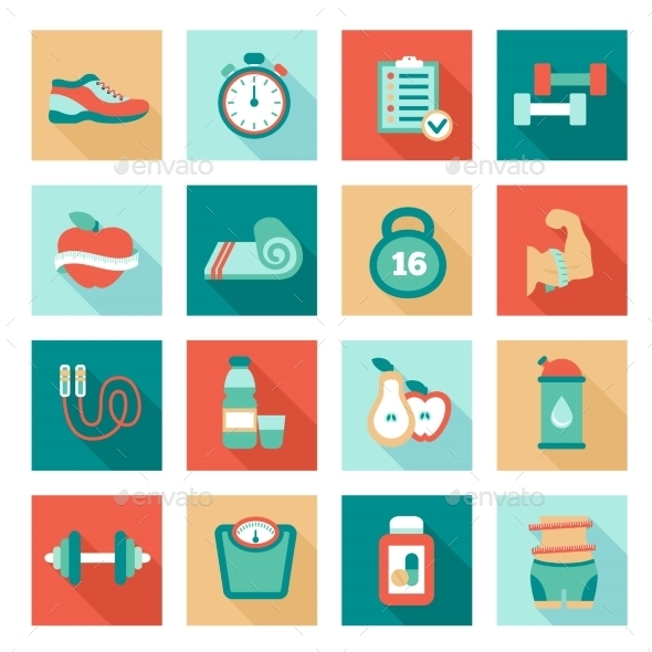 GraphicRiver Fitness Icons 10815736