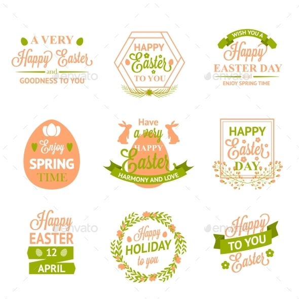 GraphicRiver Easter Labels 10815768