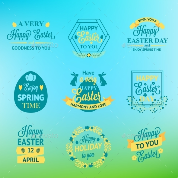 GraphicRiver Easter Labels 10815815