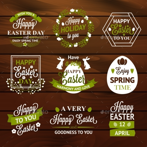 GraphicRiver Easter Labels 10815837