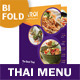 Thai Restaurant Bifold / Halffold Menu - GraphicRiver Item for Sale