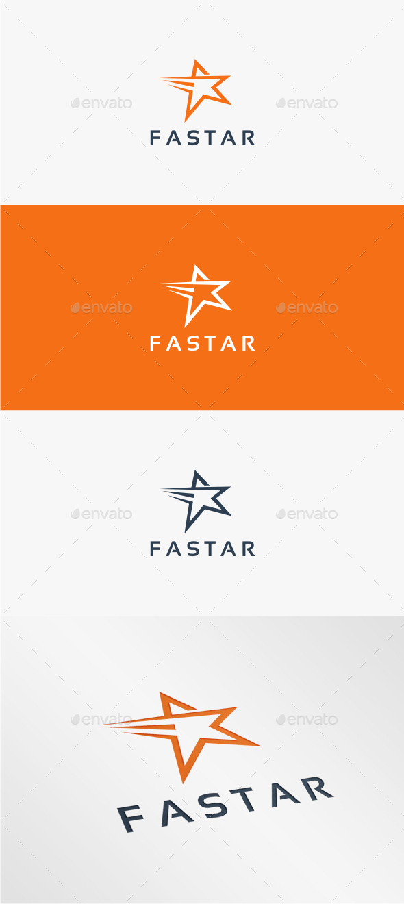 GraphicRiver Fast Star Logo Template 10815852