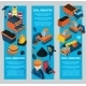 Coal Industry Isometric Banners - GraphicRiver Item for Sale