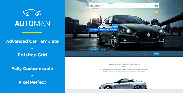 ThemeForest Automan Advanced Car Dealer PSD Template 10815904