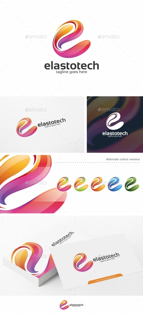 GraphicRiver Colorful E Letter Vol 02 Logo Template 10816099