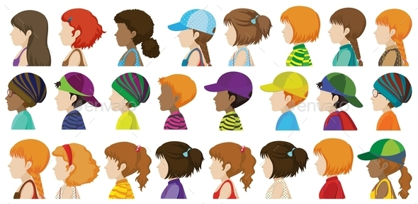 GraphicRiver Sideview of the Different Faces 10816134