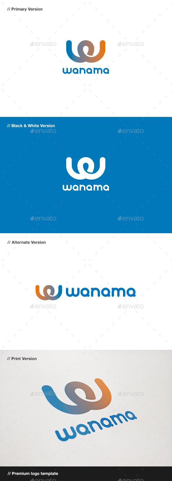 GraphicRiver Wanama Letter W Logo 10816135