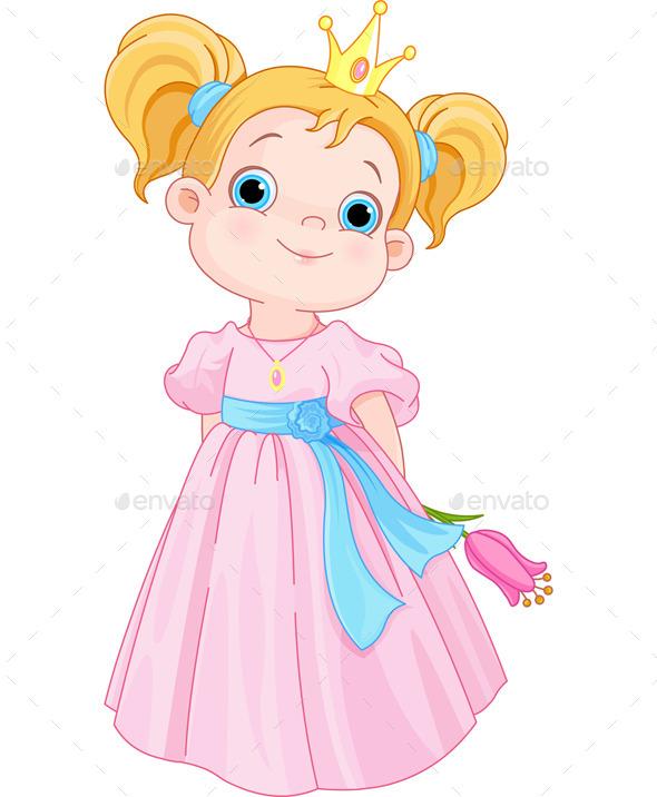 GraphicRiver Princess Holds Flower 10816149