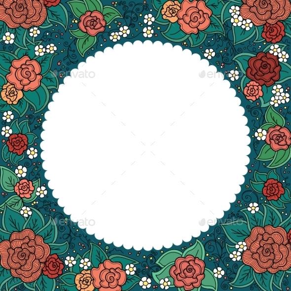 GraphicRiver Floral Frame 10816233