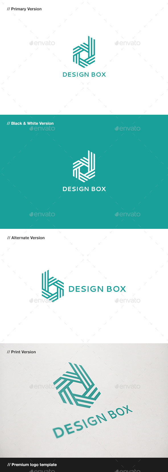 GraphicRiver Design Box Letter D & B Logo 10816338