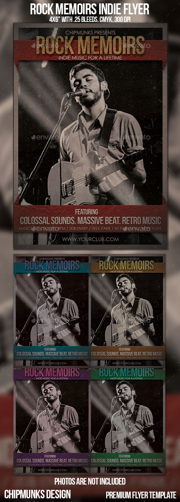 GraphicRiver Rock Memoirs Indie Flyer 10816386