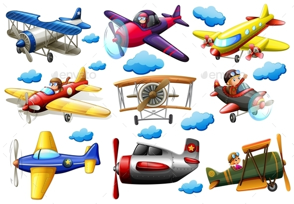 GraphicRiver Set of Planes 10816408