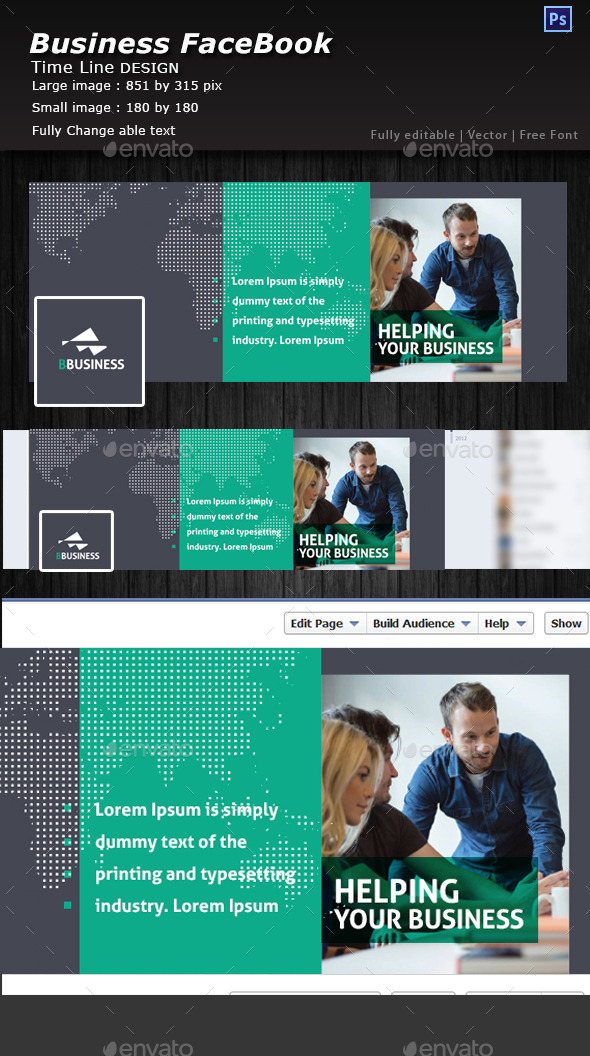 GraphicRiver Corporate Facebook TimeLine Cover 10760682
