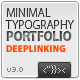 Minimal Typo XML Portfolio Template - ActiveDen Item for Sale