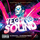 Techno Sound CD Cover - GraphicRiver Item for Sale