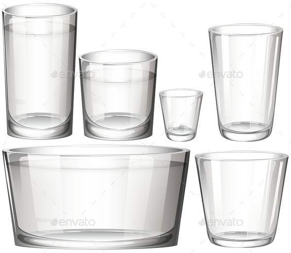 GraphicRiver Set of Glasses 10816680