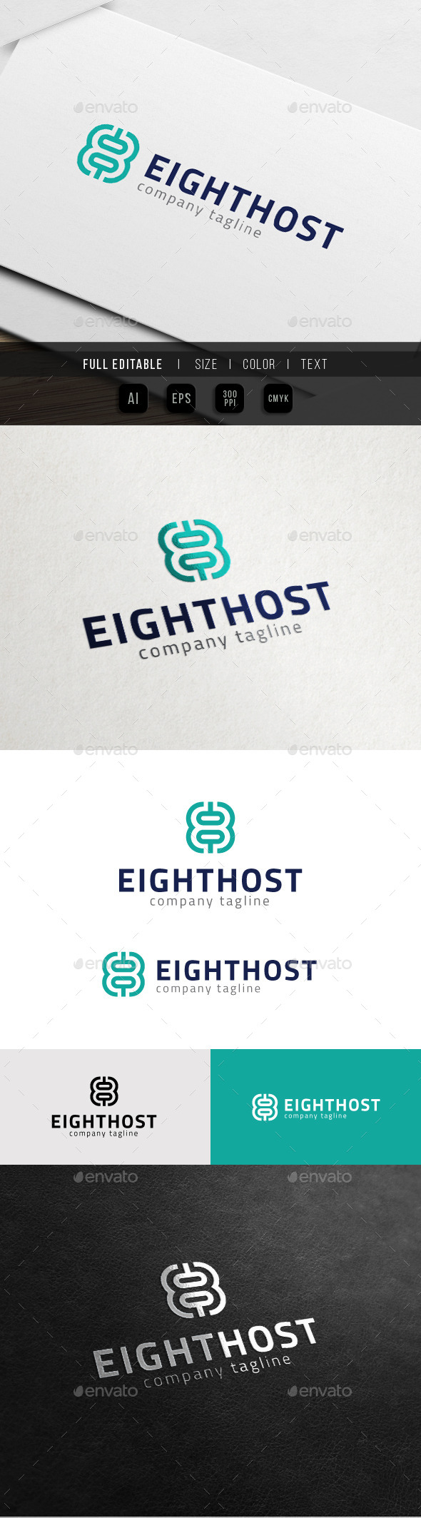 GraphicRiver Eight Theme 8 Number Hosting 10816692