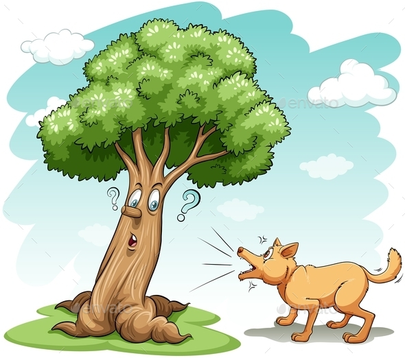 GraphicRiver Dog Barking at Tree 10816821