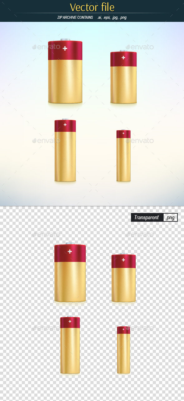 GraphicRiver Batteries Main Standard Sizes 10817170