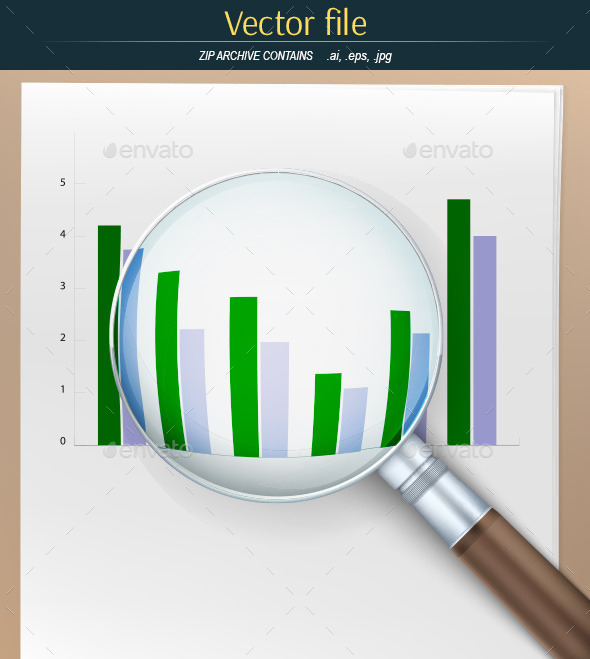 GraphicRiver Magnifier with Financial Charts 10817176