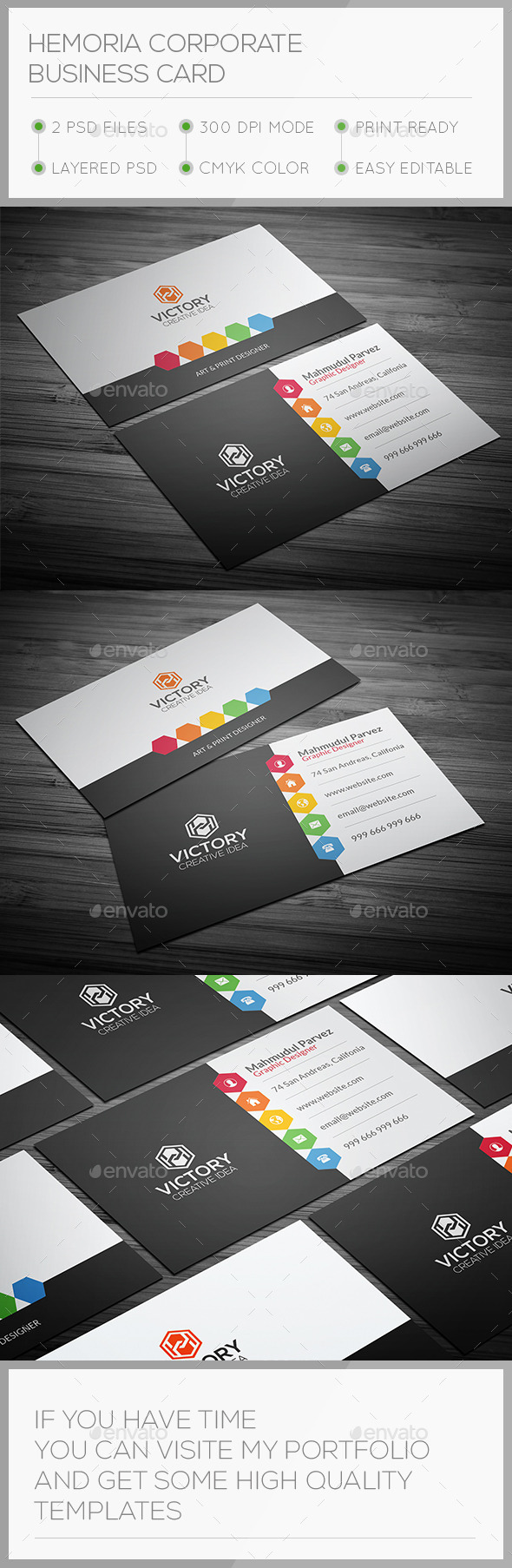 GraphicRiver Hemoria Corporate Business Card 10817449