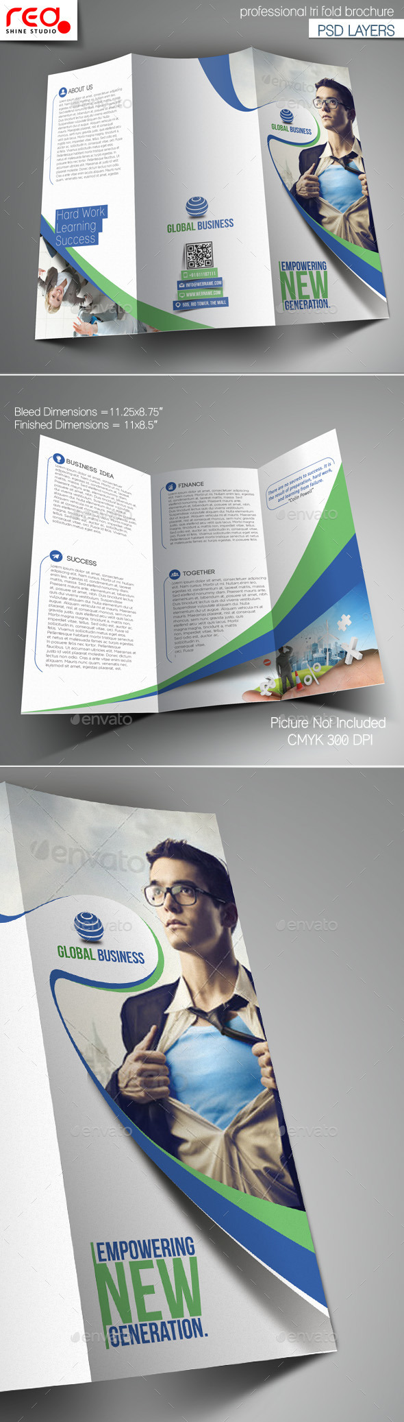 GraphicRiver Corporate Business Trifold Brochure Template 10817662