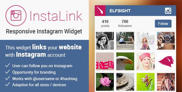 CodeCanyon InstaLink Responsive Instagram Widget 10585662
