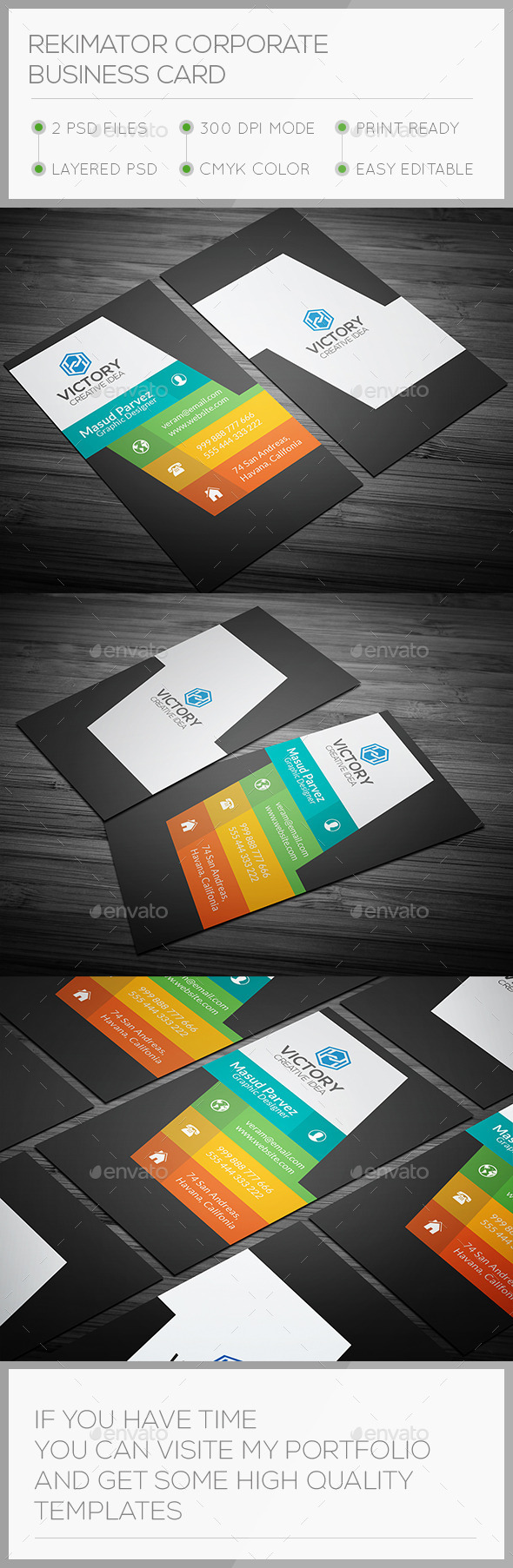 GraphicRiver Rekimator Corporate Business Card 10817922