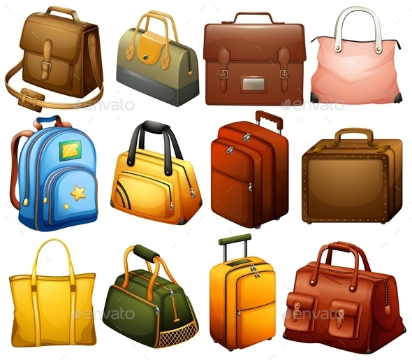 GraphicRiver Collection of Bags 10817981