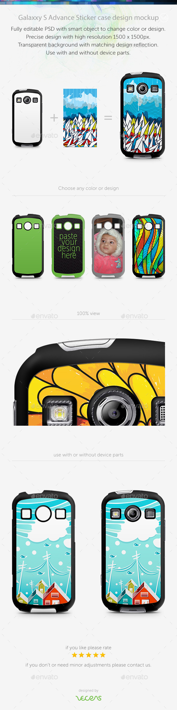 GraphicRiver Galaxxy X Cover 2 Sticker Case Design Mockup 10818095