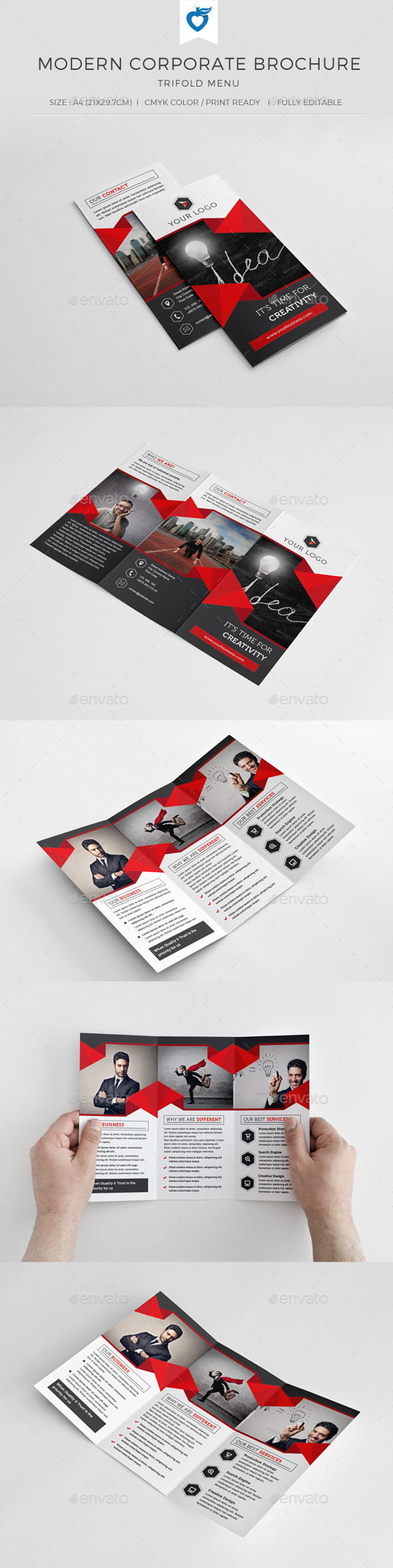 GraphicRiver Modern Corporate Trifold Brochure 10818146