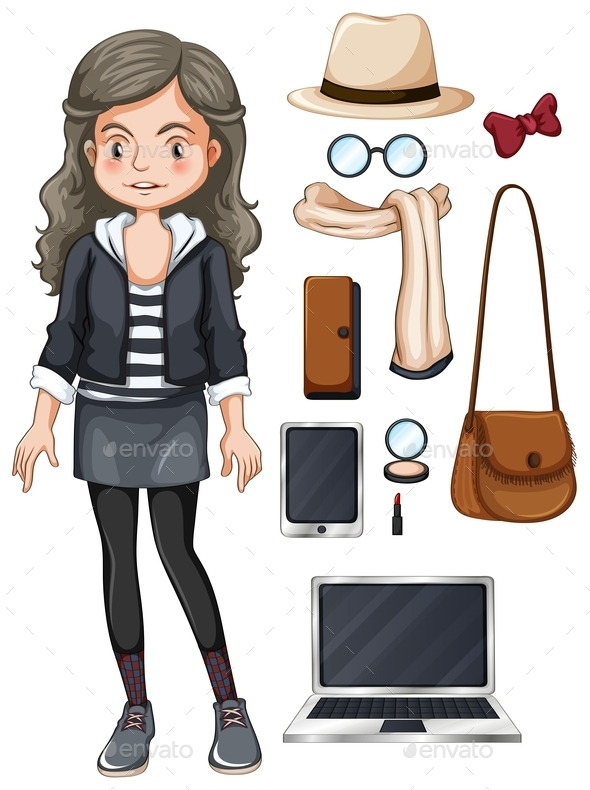 GraphicRiver Girl Hipster 10818257