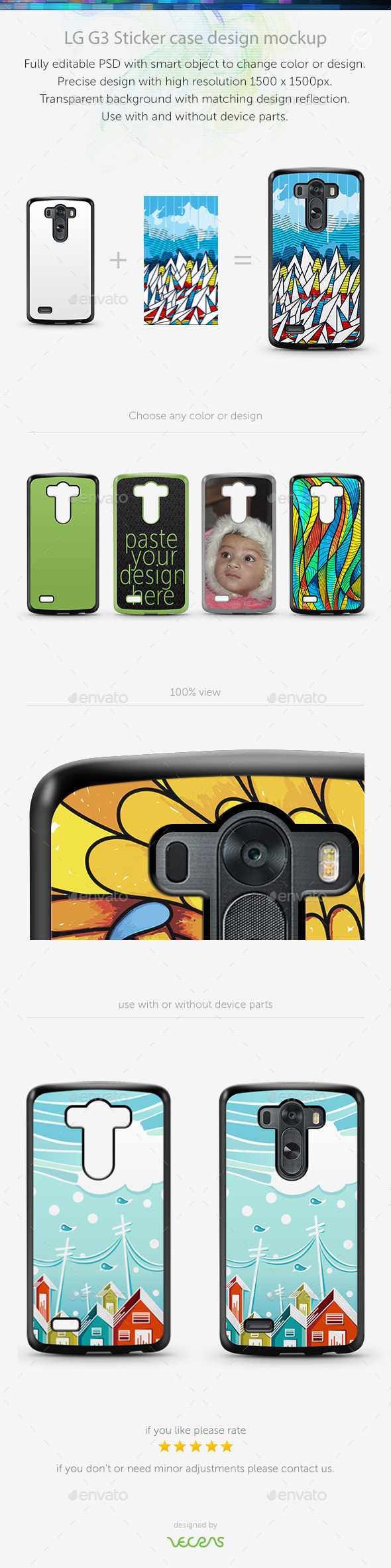 GraphicRiver LGE G3 Sticker Case Design Mockup 10818316