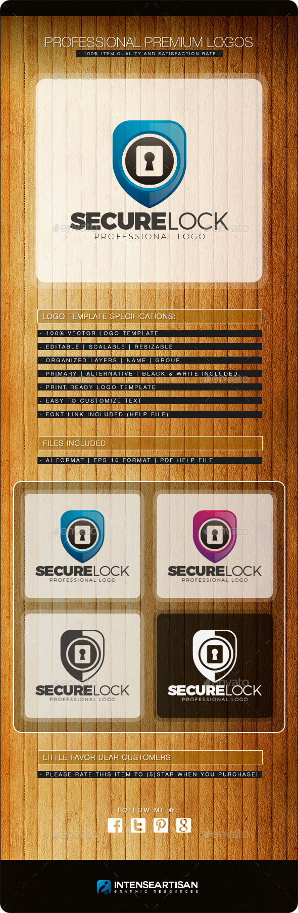 GraphicRiver Secure Lock Logo Template 10818321