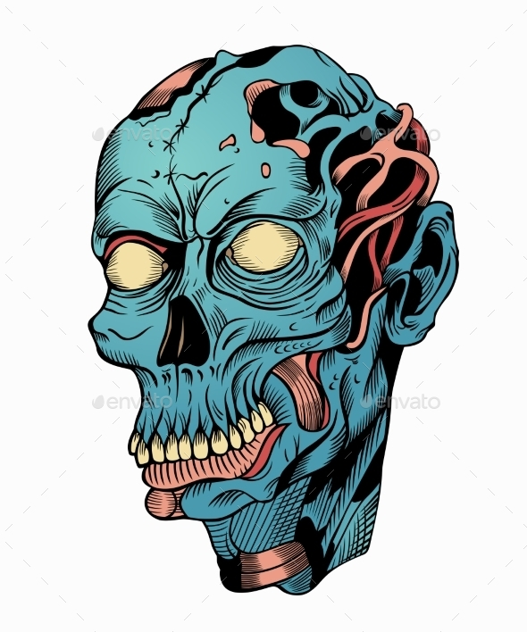 GraphicRiver Zombie Head 10818323