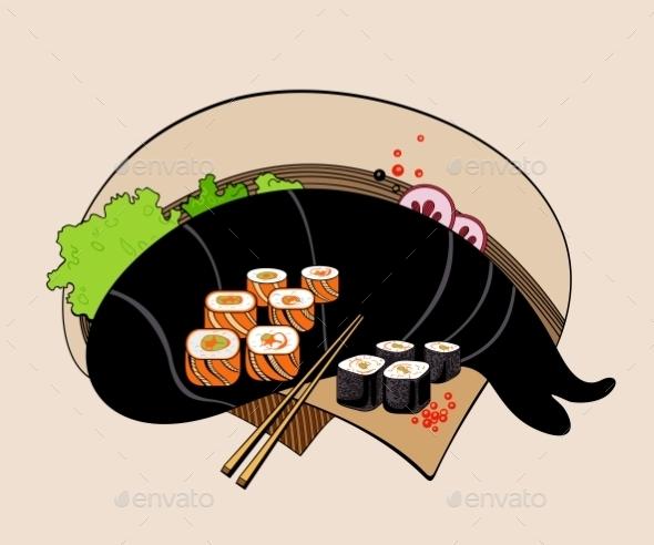 GraphicRiver Sushi Rolls 10818368