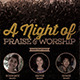 A Night of Praise and Worship Church Flyer - GraphicRiver Item for Sale
