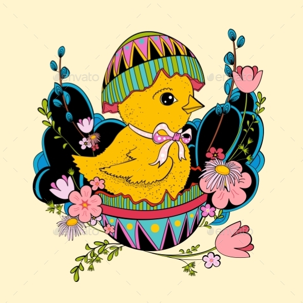 GraphicRiver Easter Chicken 10818411