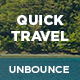 QuickTravel - Responsive Unbounce Landing Page - ThemeForest Item for Sale