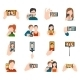 Selfie Icons Flat - GraphicRiver Item for Sale