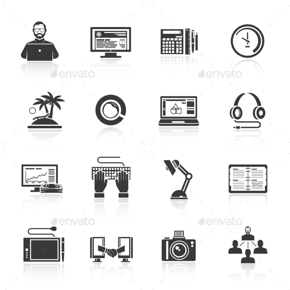 GraphicRiver Freelance Icon Set 10818686