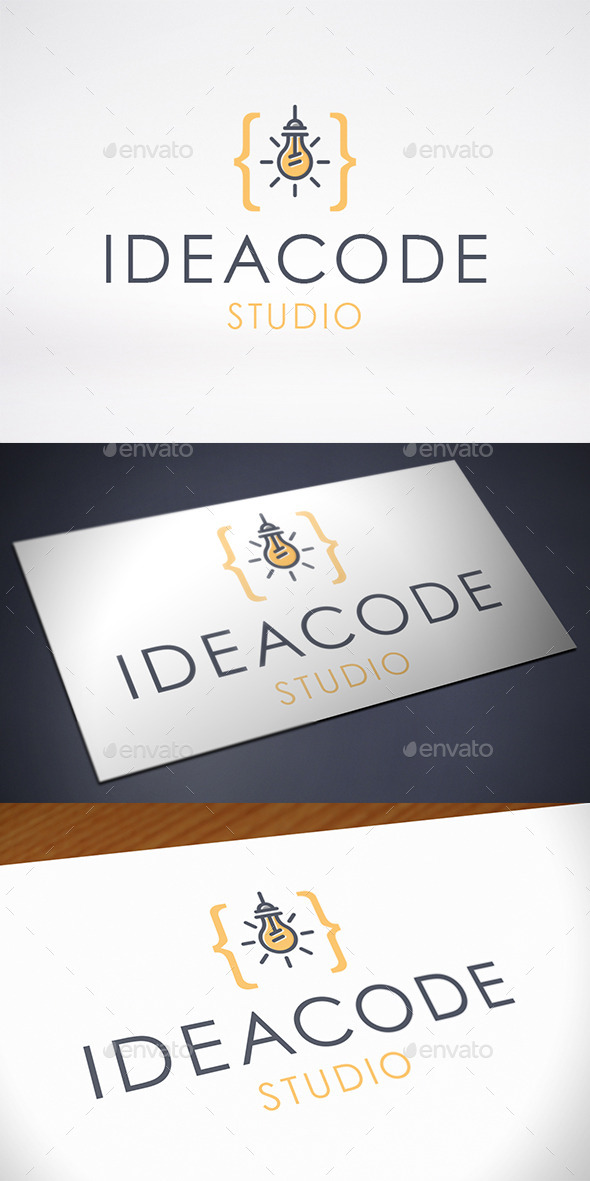GraphicRiver Idea Code Logo Template 10818691