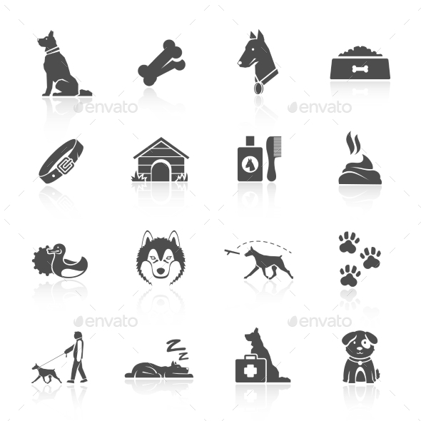 GraphicRiver Dog Icons Set 10818695