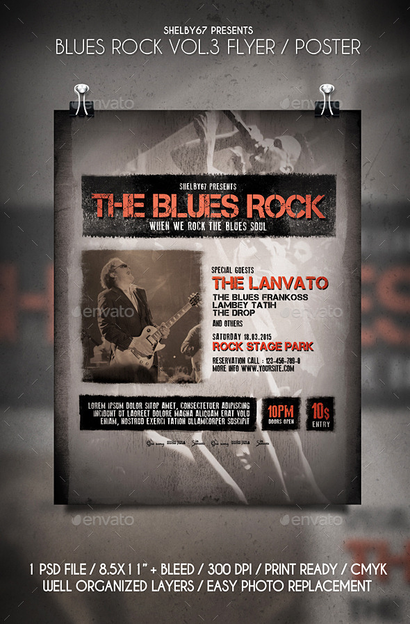 GraphicRiver Blues Rock Flyer Poster Vol.3 10818703