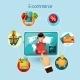 E-commerce Concept Illustration - GraphicRiver Item for Sale