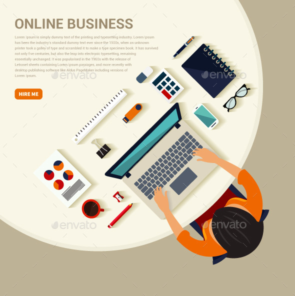 GraphicRiver Flat Business Workspace 10794711